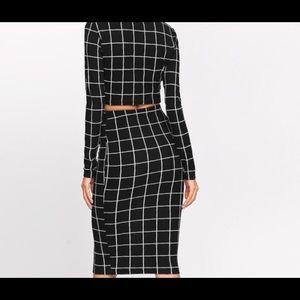 Croptop and skirt